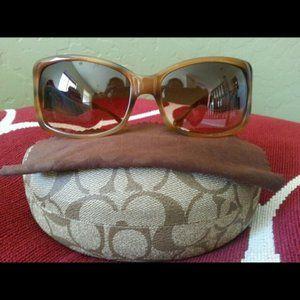 New Coach blonde tortoise women's sunglasses
